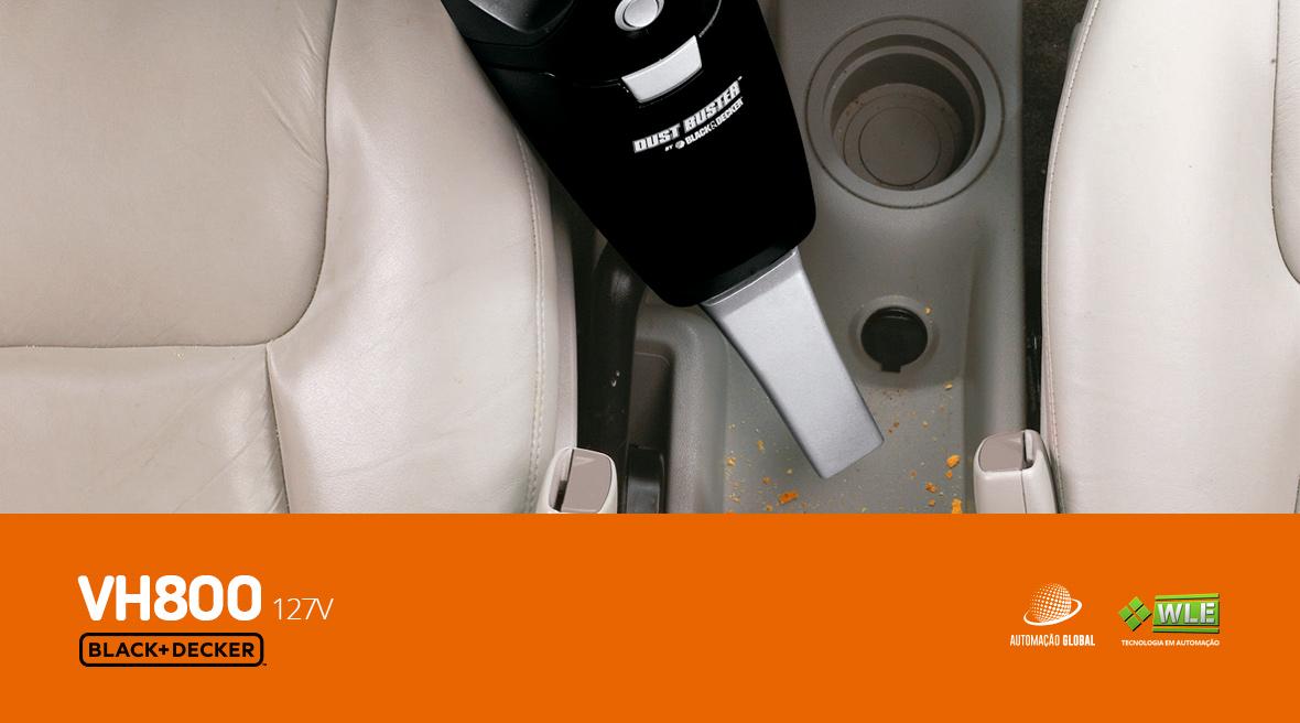 Aspirador de Pó Elétrico Portátil Black Decker VH800 750W