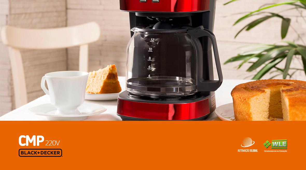 Cafeteira Elétrica Vermelha Gift Black Decker CMP
