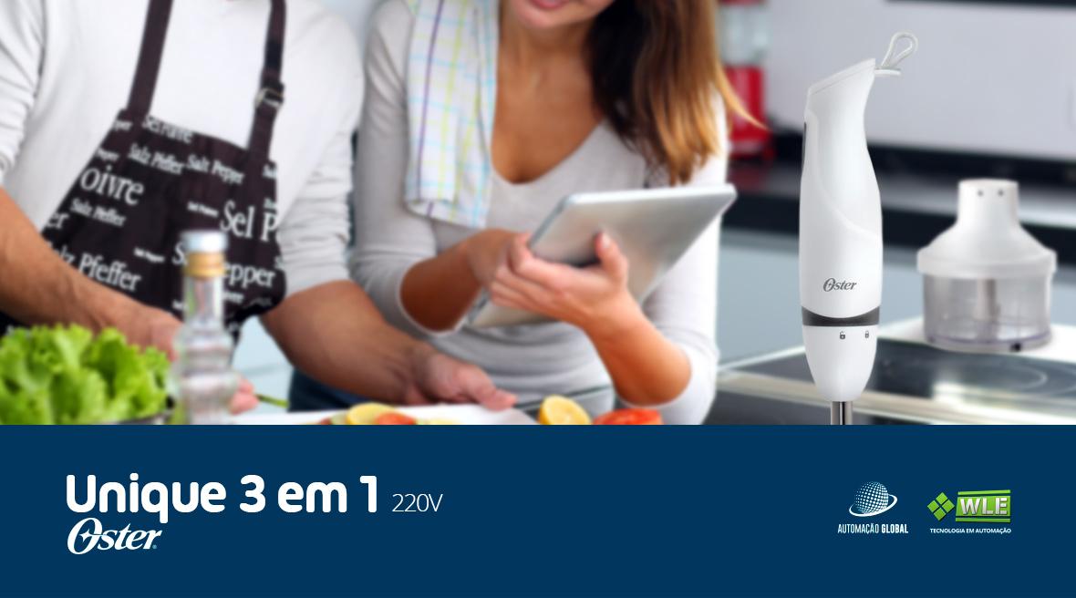 Mixer Oster Unique 3 em 1 com Faca 2619 220V