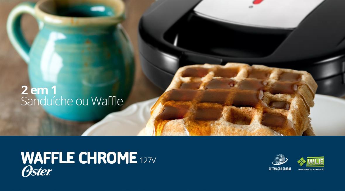 Sanduicheira Waffle Oster Chrome 127V