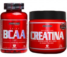 Kit BCAA Top (120caps) + Creatina Bodysize (100g) - Integralm�dica