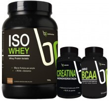 Kit ISO Whey (900g) + BCAA (120caps) + Creatina (100g) - BP Suplementos