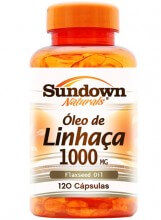FlaxSeed Oil 1000mg (�leo de Linha�a) (120caps) - Sundown