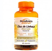 �leo de Linha�a Dourada (Flaxseed Oil) 1000mg  (60caps) - Sundown
