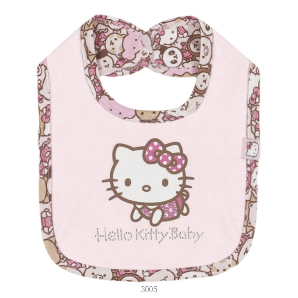 Babador Infantil Hello Kitty Dupla Face 2001.87258 Rosa