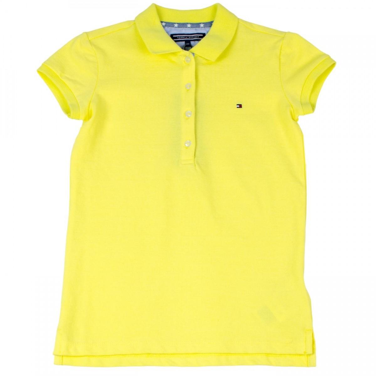 Camisa Polo Infantil Feminina Tommy Hilfiger Thkkg0p29345 Amarelo