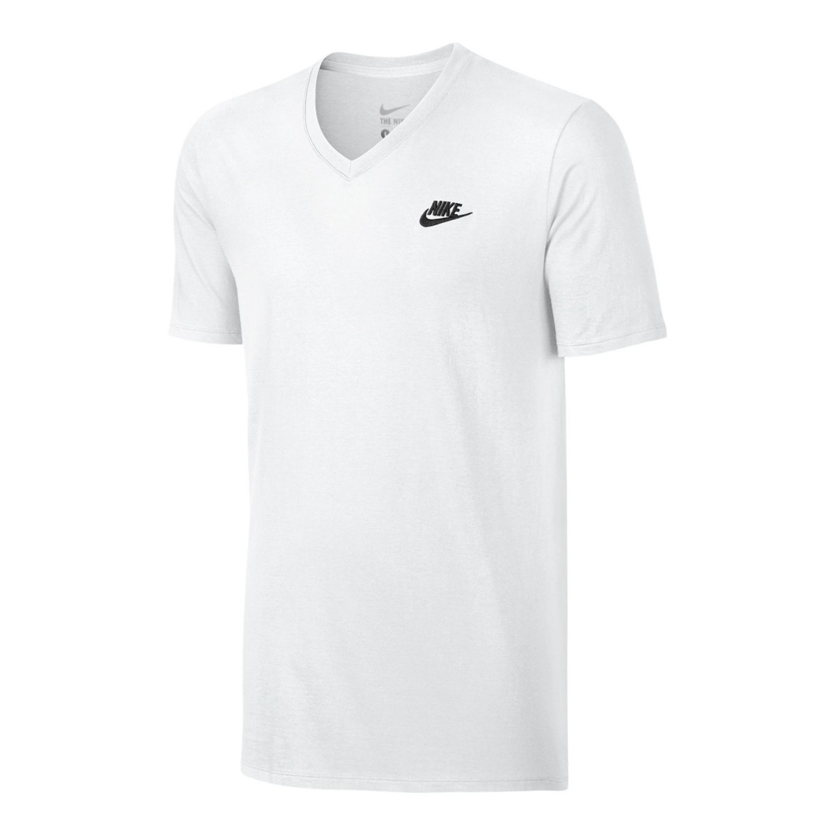 Camiseta Masculina Nike TTE - V Neck 827023 - 063 Branco