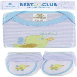 Body e Pantufa de Bebe - Best Club - cod. 6416