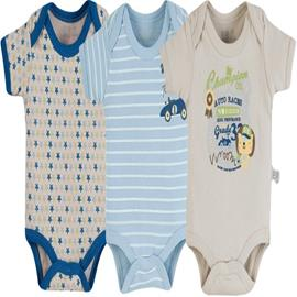 Body para Bebe - Kit 3 Pe�as - Zig Mundi - cod. 7161