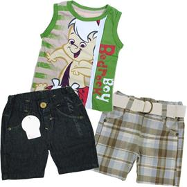 Super Oferta - Kit infantil Menino 3 pe�as - Cod. 6996
