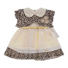 Vestido em Lesi e Onça para Bebê - Cod. 8104