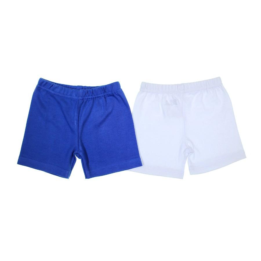 Shorts Básico Liso para Bebê Zig mundi 2 peças - 7343 - Azul