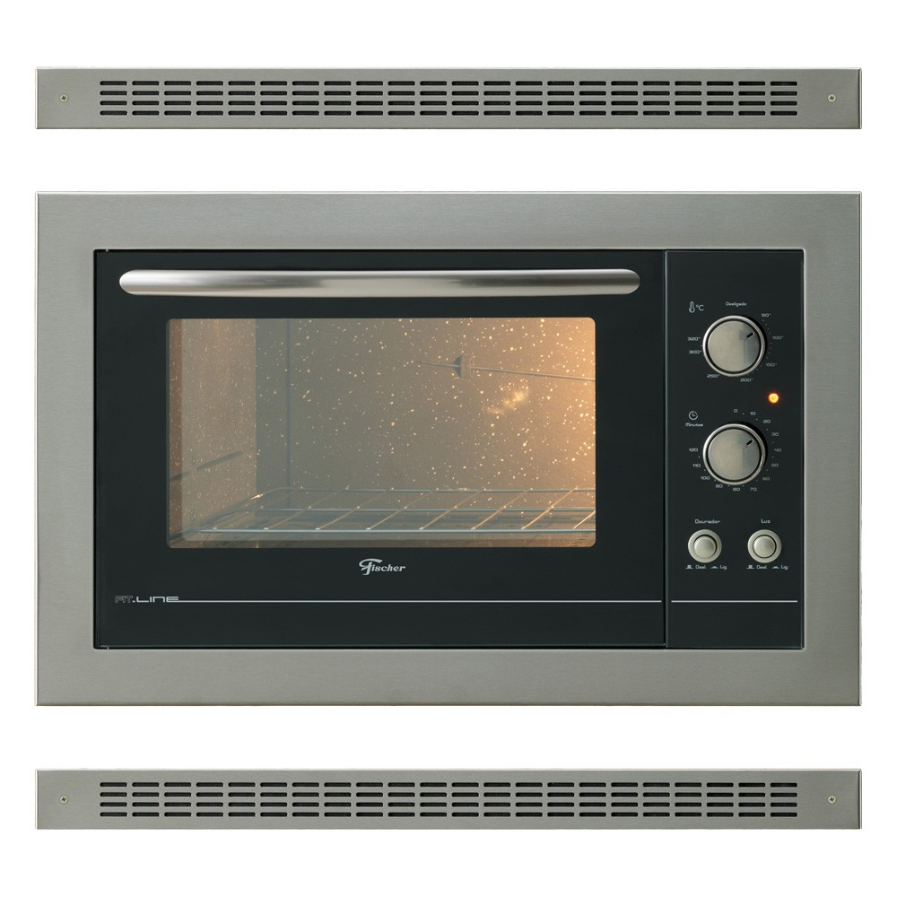 Forno de embutir fischer fit line 44 litros inox 220v 1839 - O forno do curro ...