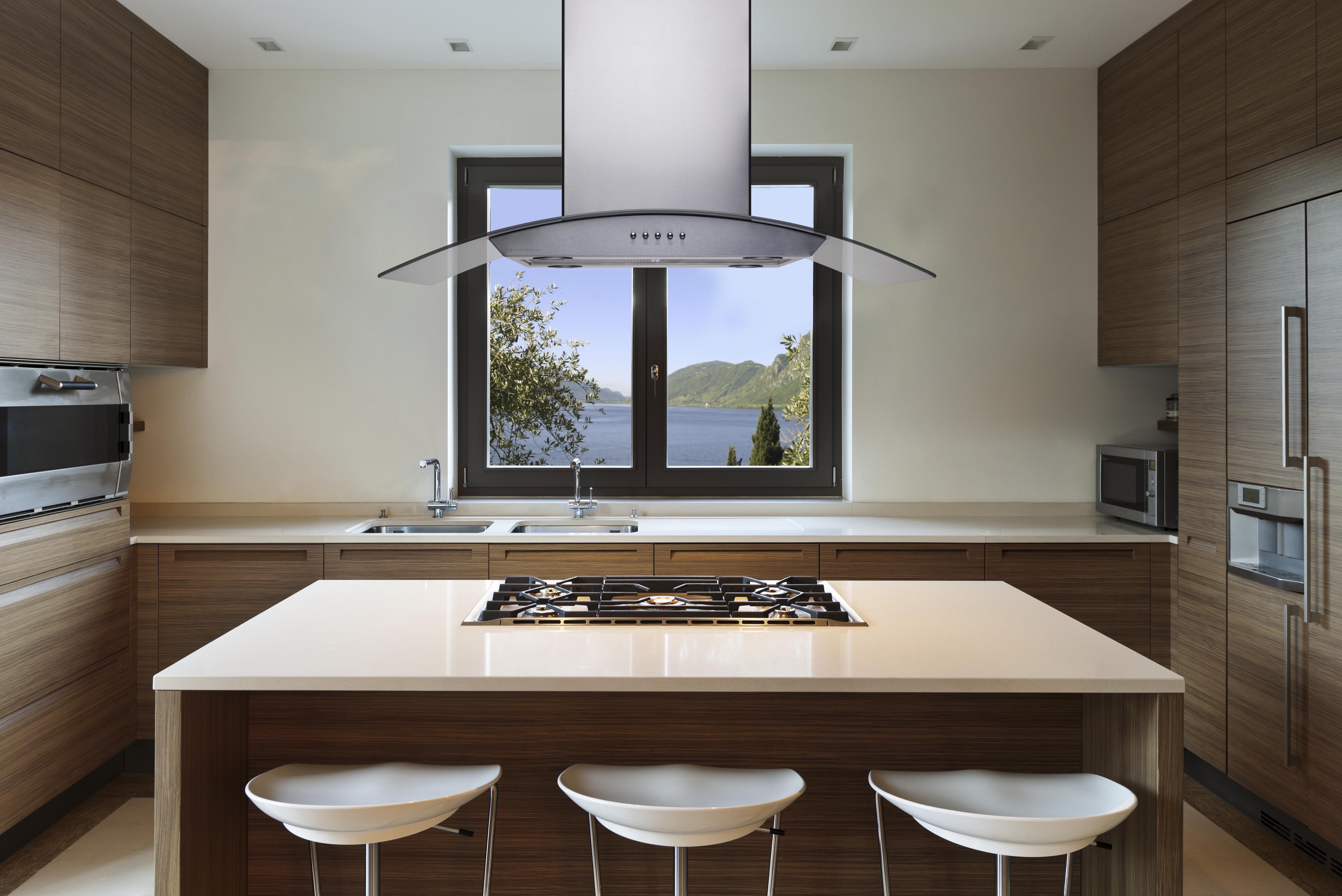 Coifa de Ilha Cadence Gourmet 90 cm Vidro e Inox CFA500