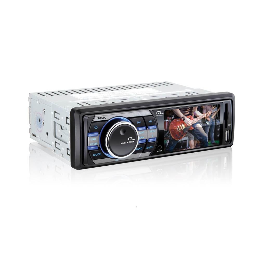 Rádio Mp3 / Mp4 Rock com USB, SD e Auxiliar - Multilaser