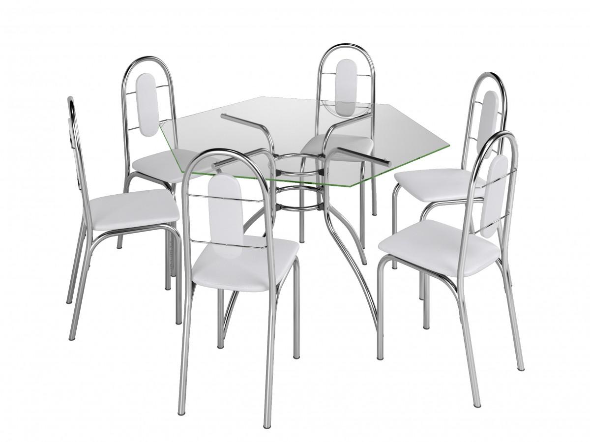 Conjunto de Mesa e Cadeiras SICILIA Branco - Brastubo