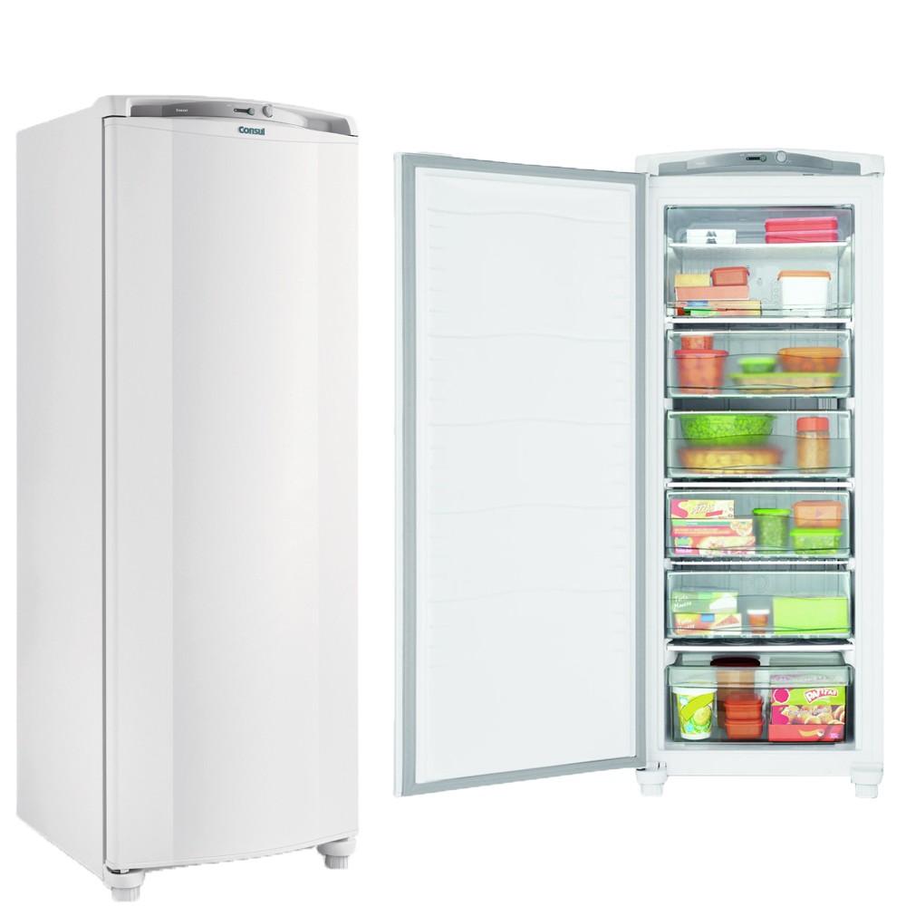 Freezer Consul 1 Porta Vertical 231 Litros Branco Cycle Defrost 127v