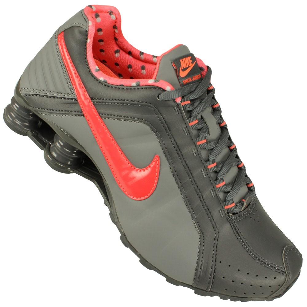 Tênis Nike Shox Junior Cinza
