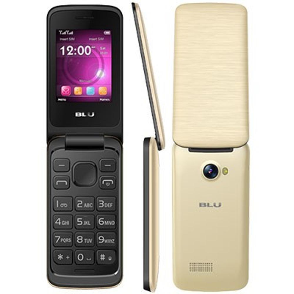 Celular Blu Diva Flex 2.4 T350 Preto e Dourado, Dual Chip, Tela 2.4 ´, Câm VGA, Bluetooth, FM, MP3