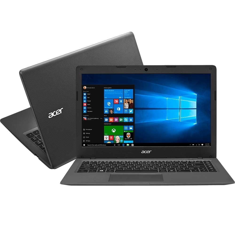 Cloudbook Acer Aspire AOI - 431 - C3WF, Intel Celeron N3050, HD 32GB, RAM 2GB, Tela 14 ´ ´, Win 10 Home