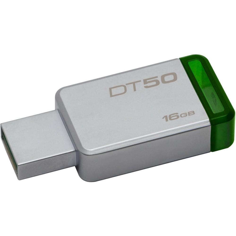 Pen Drive Kingston 16GB Datatraveler 50 USB 3.1 Prata e Verde DT50 / 16GB