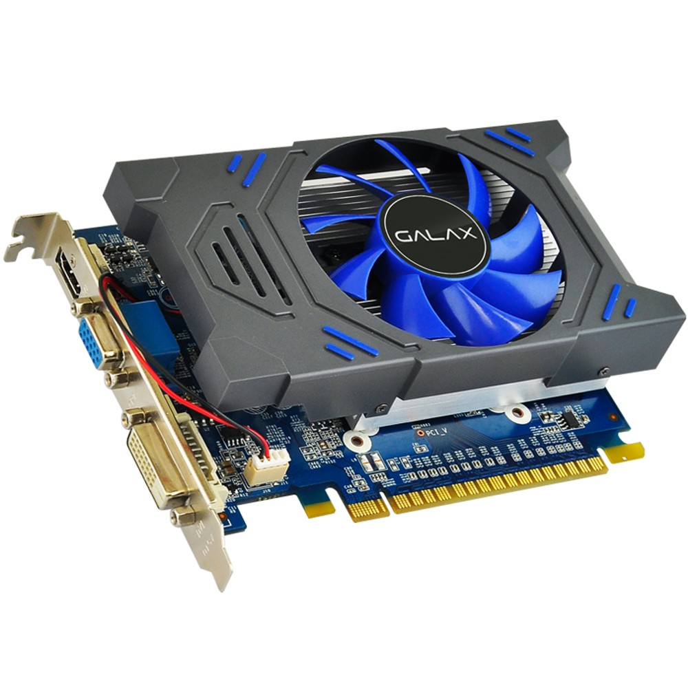Placa de Vídeo Geforce Galax Mainstream Nvidia 73GPH4HXB2TV, GT 730, 2GB, DDR5, 64 Bits