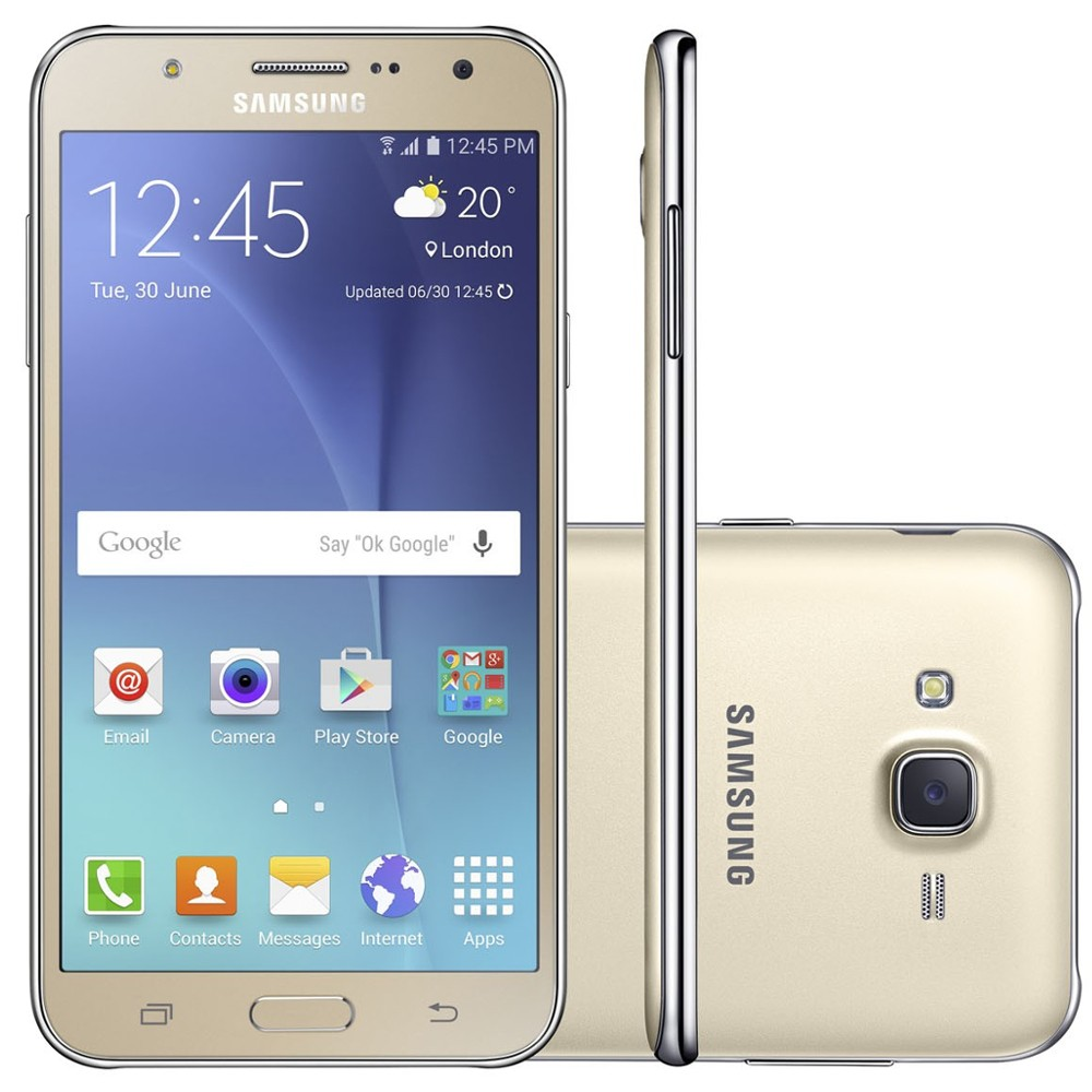 Smartphone Samsung Galaxy J7 Duos J700M, Dourado, Tela 5.5 ´ ´, 4G + WiFi, Android 5.0, 13MP, 16GB