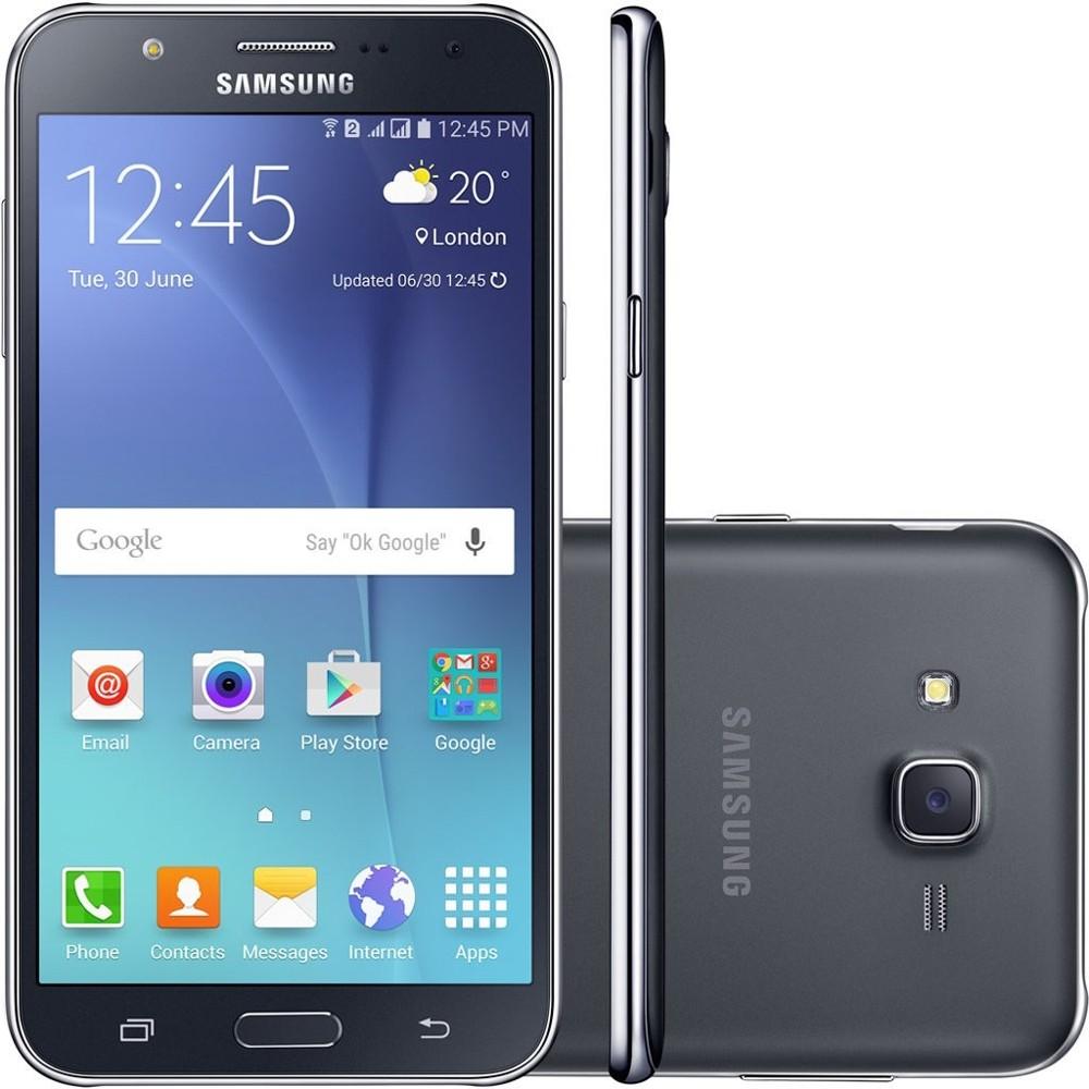 Smartphone Samsung Galaxy J7 Duos J700M, Preto, Tela 5.5 ´ ´, 4G + WiFi, Android 5.0, 13MP, 16GB