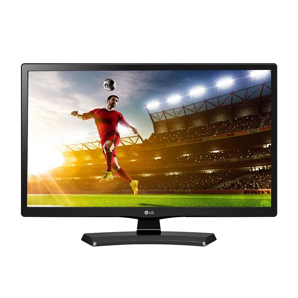TV LED 23.6 ´ LG 24MT49DF - PS HD USB, HDMI, Função Monitor, DTV, Gaming Mode - Preta