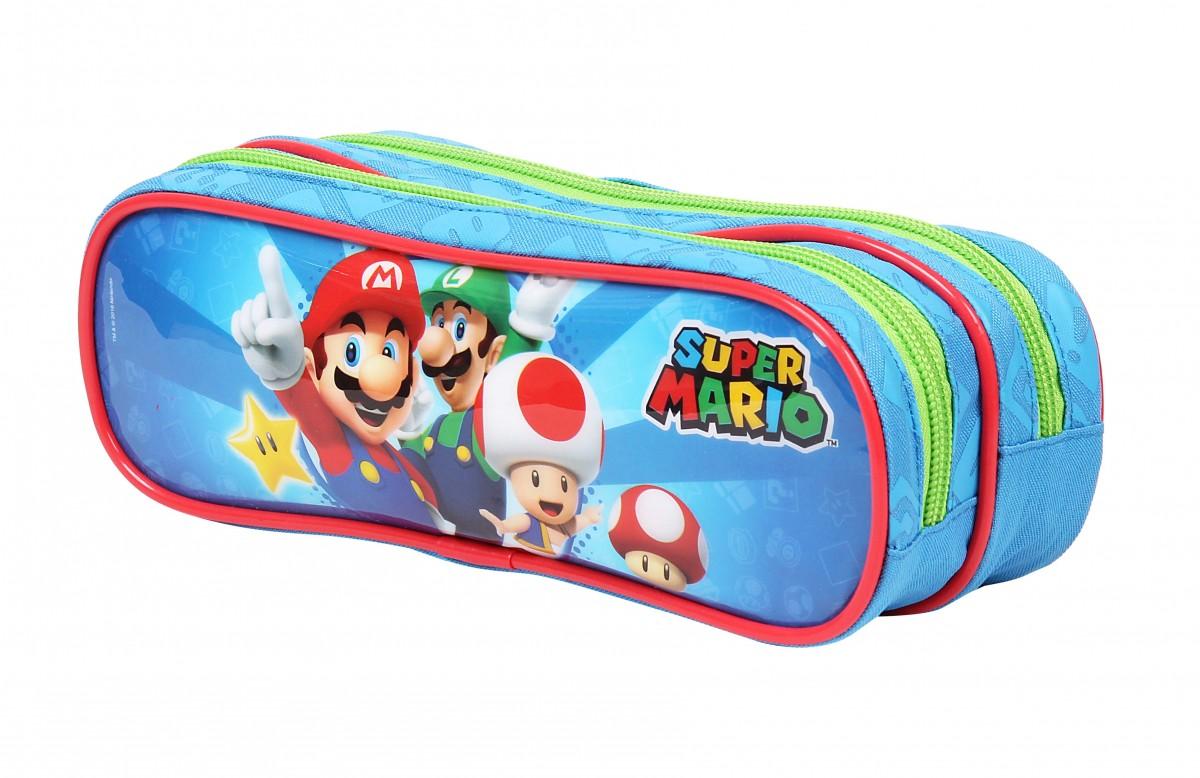 Estojo Soft com 2 Divisões P Nintendo - Super Mario Bros