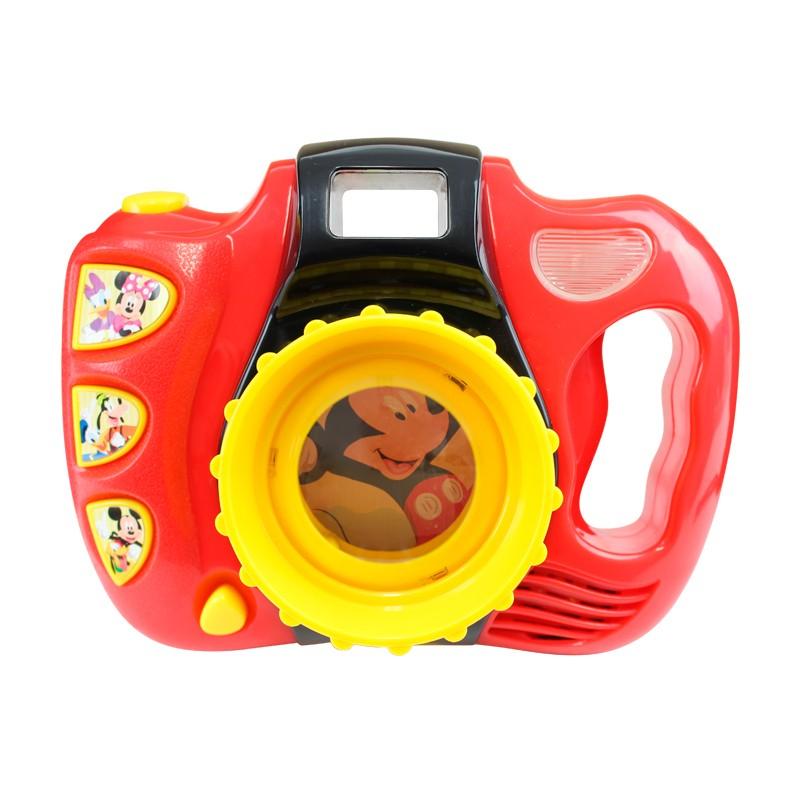 Máquina Fotográfica com lentes giratórias, flash e toca música - Mickey Disney