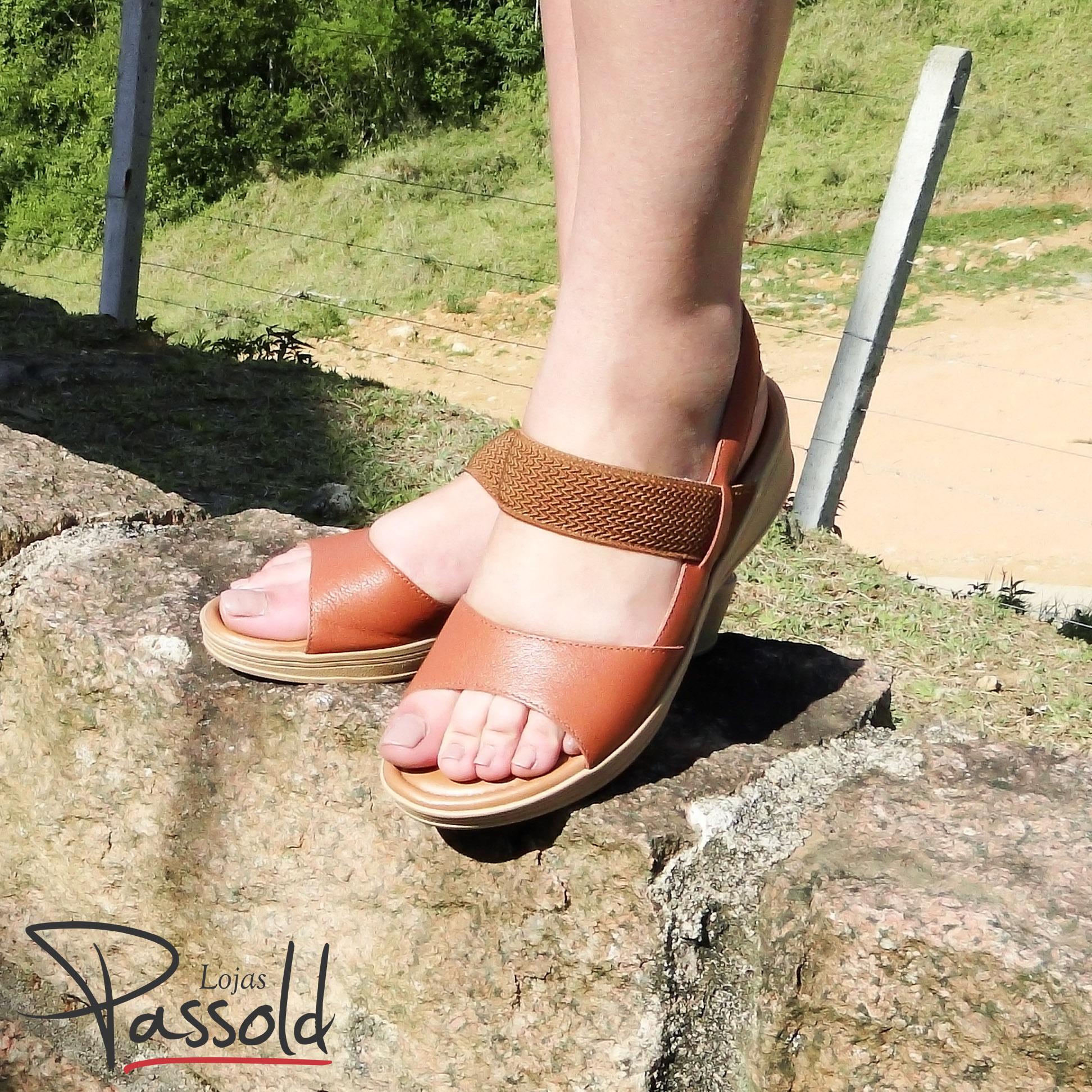80d18f79fb Sandália Usaflex com Elástico Terracota V1216