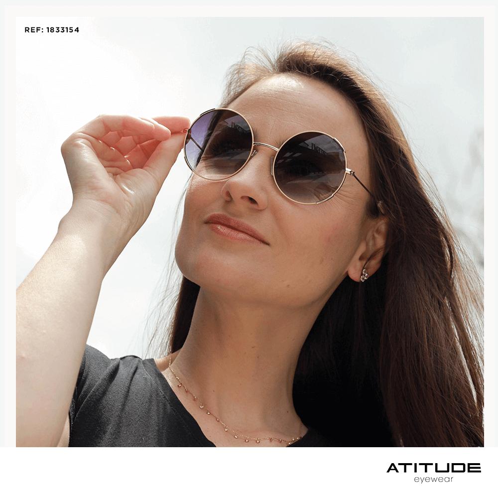Óculos de Sol modelo redondo Atitude Safira 5b37a159e9