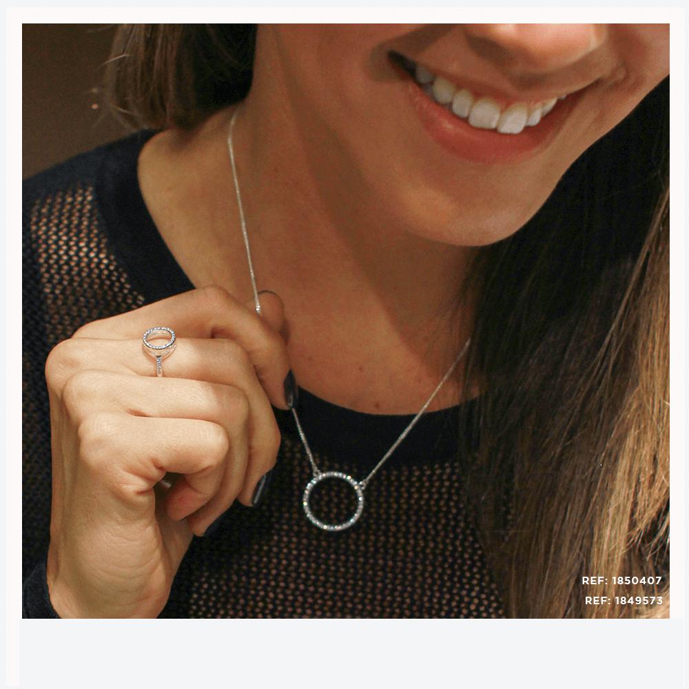 Anel e colar coleção Mandala Safira
