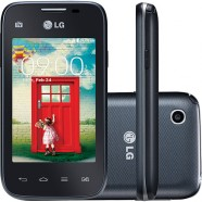 Smartphone LG D157 TV L35 Dual Chip Android Tela 3.2 ´ 4GB 3G Wi - Fi Câmera 3MP TV Digital D157 - PTO Preto