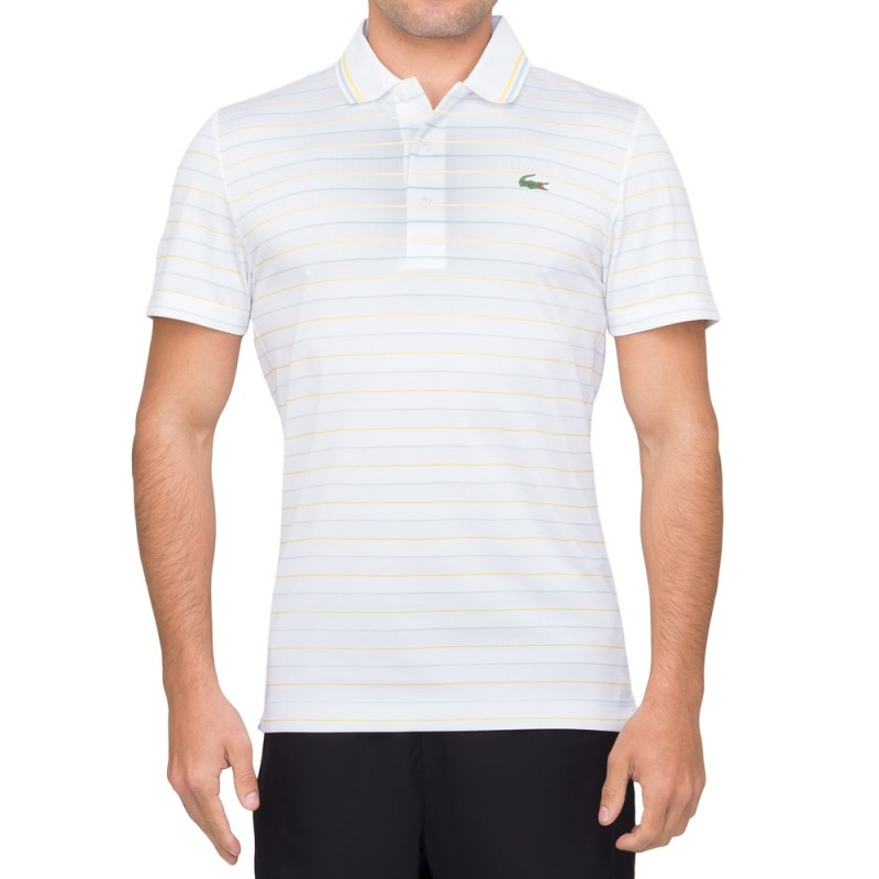Camisa Lacoste Listrada Golf Performance Bco / ama