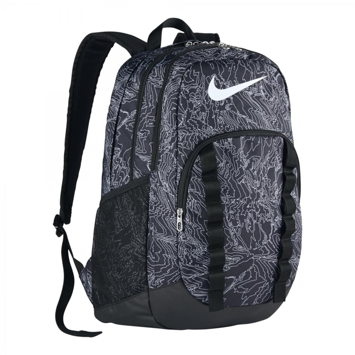 Mochila Nike Brasilia 7 Backpack Graphic Pto / bco Gg