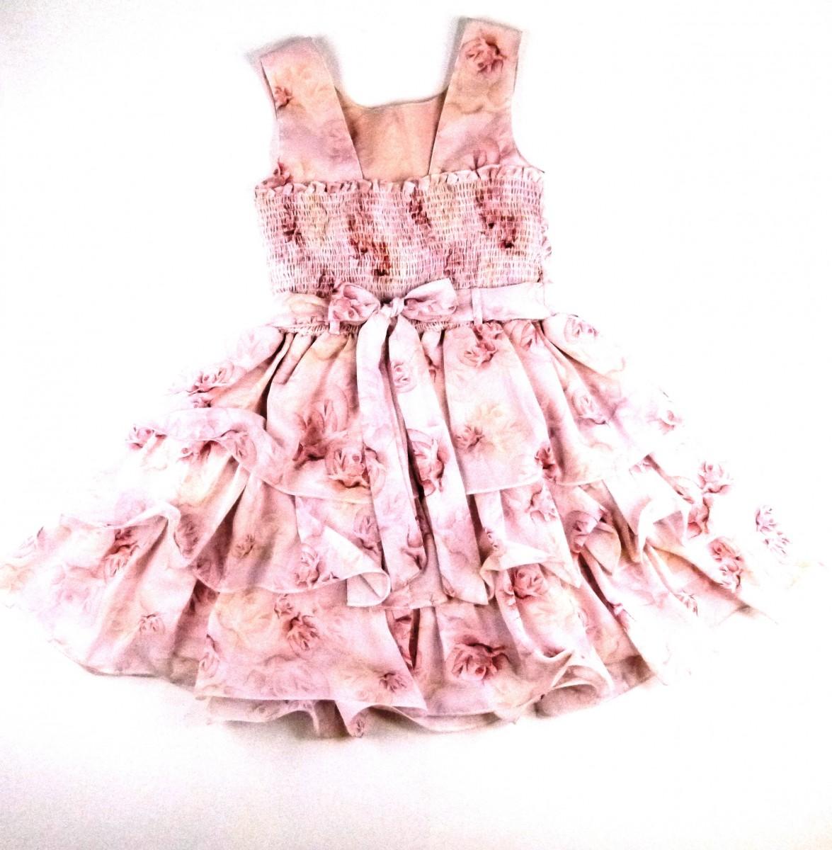 Vestido Com Perolas Fru Fru Cattai - 032072 Rosa