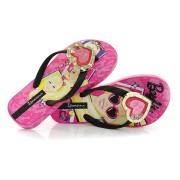 Chinelo Infantil Barbie Troca Aplique 25786 ROSA / PRETO