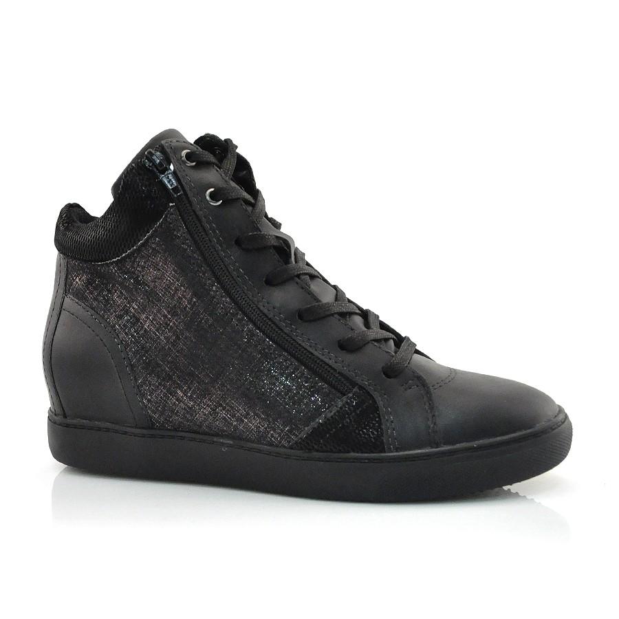 Sneaker Feminino Bottero Preto Ou Branco Preto
