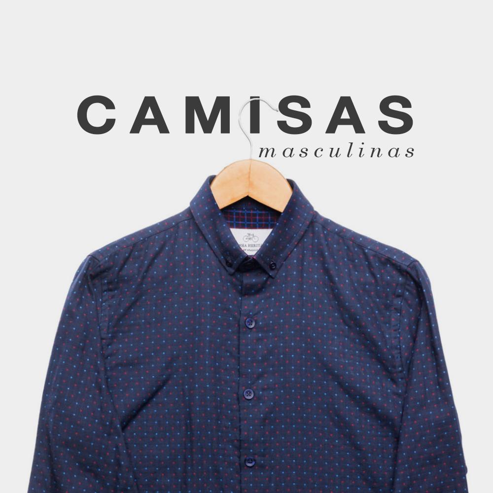 Banner vestuário masculino camisa