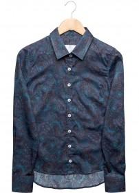 Imagem - Camisa Aragäna Feminina Full Print Azul - 2.433