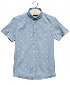 Imagem - Camisa Manga Curta Coqueiros | Jeans Claro - 2.998