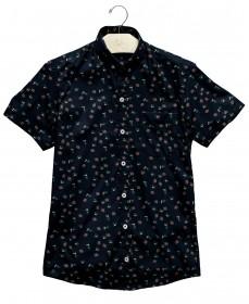 Imagem - Camisa Manga Curta Flores | Marinho - 2.1003