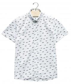 Imagem - Camisa Manga Curta Tubarões | Branco - 2.1000