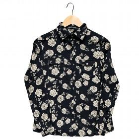 Imagem - Camisa Manga Longa Flores | Preta - 2.1207
