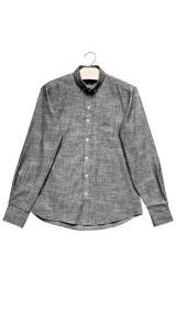 Imagem - Camisa Masculina Linho Cinza Escuro - 2.2048