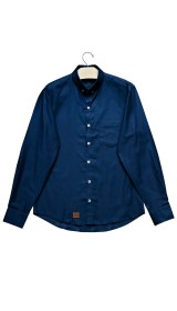 Imagem - Camisa Aragäna Masculina Oxford Azul Escuro - 2.2050