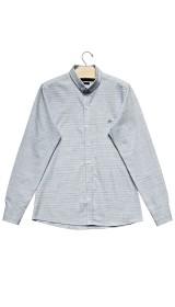 Imagem - Camisa Masculina Slim Azul Mescla - 2.2054