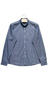 Imagem - Camisa Slim Aragäna Masculina Oxford Azul Claro - 2.2046